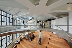 Stair of the Week doubles as a meeting area in Weiden+Kennedy New York offices : TreeHugger
