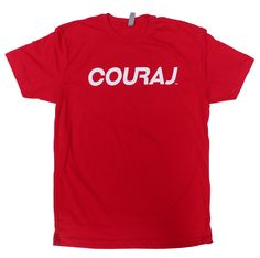 *New* Double Sided Couraj Tee, Red