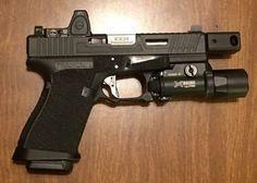 Survival Weapons, Weapons Guns, Guns And Ammo, Survival Gear, Custom Glock, Custom Guns, Glock Mods, Assault Weapon, Tactical Gear