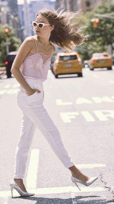 Classic. Feminine. Versatile. In love with this cami!