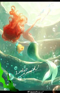 Ariel is one of my favorite Disney princesses simply because we have so much in common. If Ariel were a real person, she would be my soul twin. Ariel Disney, Disney Pixar, Animation Disney, Disney Dream, Disney Girls, Disney And Dreamworks, Disney Magic, Disney Movies, Goth Disney