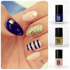 Nautical and Nude Nails