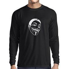 N4043L Camiseta de manga larga Like Anonymous gift (Large Negro Blanco) #regalo #arte #geek #camiseta