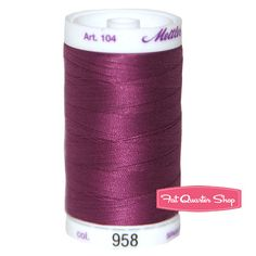 Mettler Grape 100% Cotton Silk Finish Thread Mettler #104-958  #FQSgiftguide