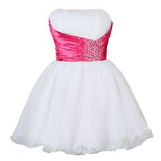 Vantexi Womens Short Cocktail Party Homecoming Dresses White Pink Size 4 >>> See this great product. (This is an affiliate link and I receive a commission for the sales)