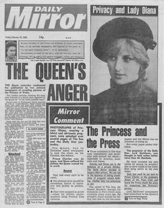 February 17, 1982: The article discusses rival newspapers publication of photos of the pregnant Princess in a bikini on her private holiday in the Bahamas. The photo in the article was taken from her honeymoon in Scotland.