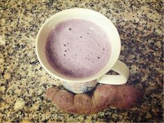 purple sweet potato latte// OMG, yum with coconut milk, agave and cinnamon