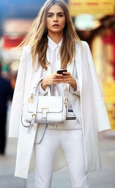 I've always thought it is hard to put an outfit together all white that looks good, this one's just amazing- From cfda.tumblr.com