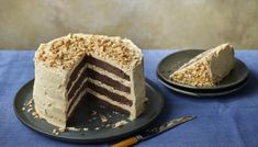 Nigella's chocolate and peanut butter cake is easy to make, yet worthy of any special occasion. You can make it in four glorious layers or just two. Chocolate Peanuts, Chocolate Peanut Butter, Chocolate Cakes, Cake Recipes Bbc, Loaf Recipes, Different Cakes, Cake Tins, So Little Time, Baking
