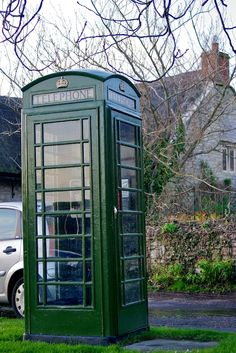 Green telephone box in Portesham on the coast road from Weymouth to Bridport. Not many of these around ...
