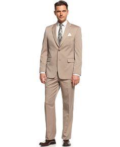 Jones New York Suit Tan Herringbone - Shop All Suits - Men - Macy's