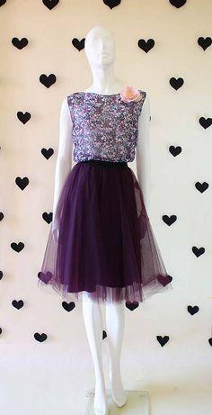 9385fc7910e1 Tylová sukňa ...NEW.....tmavo fialová   ZuzanaZachar