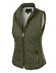 This lightweight quilted brush fleece jacket vest with pockets is the essential piece you must have! Its inner brushed fleece will give you all the comfort and fleece you need. This zip up jacket is p