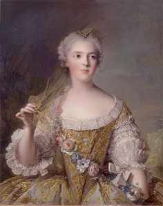 Sophie of France (1748) by Marc Nattier, daughter of Louis XV who is not very well know and didn't lead a very interesting life.