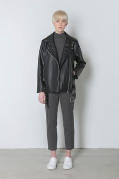 15 Faux Leather Jackets That Look Like The Real Deal #refinery29  http://www.refinery29.com/faux-leather-jacket#slide-14  A boyfriend moto sans the boyfriend means never having to give it back.Oak + Fort Jacket E61, $198, available at Oak + Fort....
