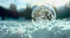 Bubbles Freezing in Mid-air Captured in Sony 4K Ultra HD TV Commercial