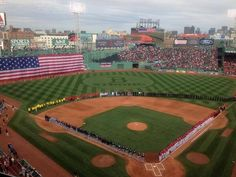 10/4/13: Tampa Bay  Rays and Boston Red Sox game began with a tribute to the Boston Marathon victims and first responders. [Photo by Roger Mooney]