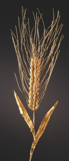 Greek ear of wheat made of gold, 4th-3rd century B.C. Private collection