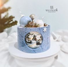 And the last tasty offer for the new year (I can't stop 😂) … 🌲Cream cake with a similar design with a Japanese biscuit and … Christmas Log, Christmas Cookies, Holiday Baking, Christmas Baking, Polymer Clay Sweets, Fondant, Special Birthday Cakes, Cake Stall, New Year's Cake