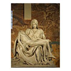 Michelangelo's Pieta in St. Peter's Basilica Postcard   Zazzle.com