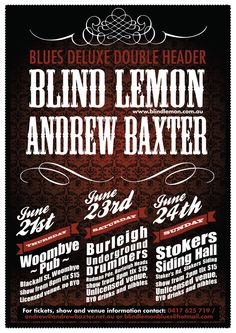 Blues Deluxe Double Header: Blind Lemon & Andrew Baxter