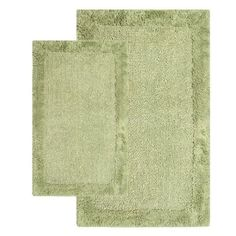 Chesapeake 2-Piece 21-Inch by 34-Inch and 24-Inch by 40-Inch Bella Napoli Rug Set, Bottle Green by Chesapeake. $46.00. Plush and soft 100-Percent cotton. Add luxury spa feeling to your bathroom. 100% Cotton. Easy care. Reversible bath rug. 2 Piece set includes 21 by 34 and 24 by 40 bath rug. A Luxurious and Comforting reversible bath rug. The Bella Napoli Collection adds warmth to any bathroom. Spun from 100-Percent Cotton. This bath rug is plush under foot and...