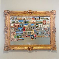 Magnet board--buy a magnet in every city you visit and add it to the board!