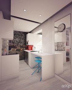 Квартира-студия: интерьер, зd визуализация, квартира, дом, современный, модернизм, 20 - 30 м2, студия, интерьер #interiordesign #3dvisualization #apartment #house #modern #20_30m2 #studio #atelier #interior arXip.com