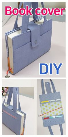 DIY Carry-On Fabric Book Cover Kostenlos Schnittmuster + Video Diy Sewing Projects, Sewing Projects For Beginners, Sewing Tutorials, Sewing Crafts, Dress Tutorials, Sewing Patterns Free, Free Sewing, Pattern Sewing, Free Pattern