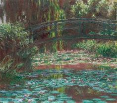[Now on view in Gallery 243] Claude Monet. Water Lily Pond, 1900. Mr. and Mrs. Lewis Larned Coburn Memorial Collection.
