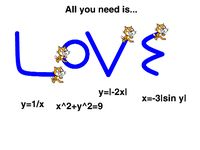 Cool scratch project that uses equations and pen up/down blocks to spell out LOVE.
