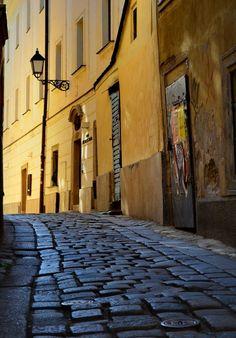 Bratislava ... gorgeous cobblestones and lovely color contrast