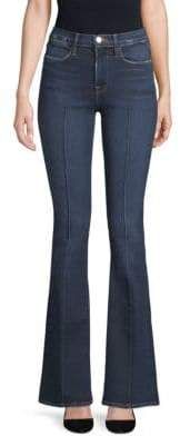 Frame Le High Pintuck Flared Jeans Pin Tucks, Flare Jeans, Bell Bottoms, Bell Bottom Jeans, Closure, Zip, Button, Frame, Pants