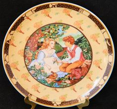"""Heinrich W. Germany Villeroy & Boch Salad Collectors Plate """"Roses Are Red"""""""