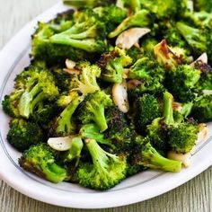 This recipe for Roasted Broccoli with Garlic ... very easy and crispy crunch like a chip texture.