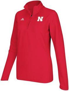 Ladies Adidas Nebraska Huskers Microfleece Sideline Jacket