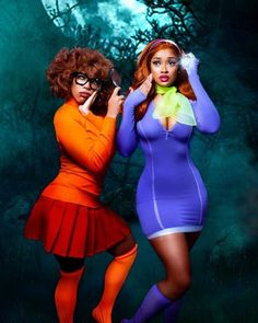 Cosplay Lindo, Top Cosplay, Cute Cosplay, Cosplay Outfits, Cosplay Ideas, Cosplay Girls, Velma Halloween Costume, Black Girl Halloween Costume, Halloween Outfits