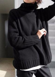 LUX-100-pure-cashmere-JIL-SANDER-black-long-polo-neck-jamper-tunic-size-L