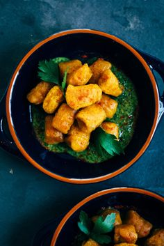 Harissa-Spiced Pumpkin Gnocchi w/ Parsley and Mint PestoHarissa-Spiced Pumpkin Gnocchi w/ Parsley and Mint Pesto   Well and Full