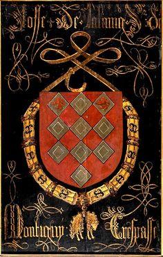 Golden Fleece Order Stall-plate of 83. Joost de Lailang, Seigneur de Montigny (1437-1483), Sint-Rumoldus Kerk Mechelen, by Pierre Coustain, 1491.