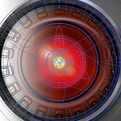Hal 9000, the eye illustration in vector on Behance
