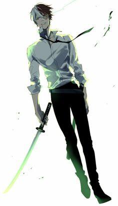 Todoroki Shouto, cool, katana, sword, angry; My Hero Academia