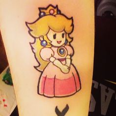 Princess Peach Tattoo from Super Paper Mario