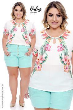 8b479c05d Blusa Plus Size Halla - Coleção Primavera Verão Plus Size -  daluzplussize.com.br