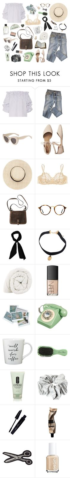 """""""I LIKE THE WAY YOU SOUND IN THE MORNING"""" by etoilesdanse ❤ liked on Polyvore featuring Caroline Constas, A.P.C., Gap, Mimi Holliday by Damaris, Ray-Ban, donni charm, NARS Cosmetics, Wild & Wolf, Less is More and Clinique"""