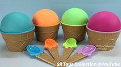 Ice Cream Play Dough Surprise Toys Mickey Mouse Peppa Pig Thomas & Frien...