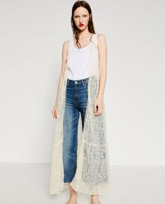 Image 1 of LONG EMBROIDERED WAISTCOAT from Zara