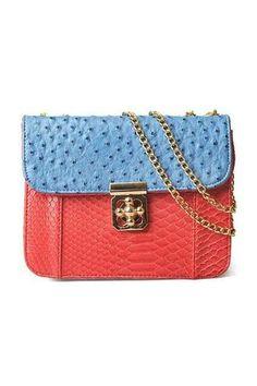 Coral snake print purse