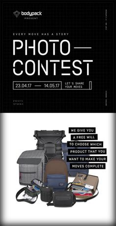 #Bodypack #PhotoContest #LombaFoto #Instagram Bodypack Photo Contest 2017 Every Move Has a Story  DEADLINE: 07 Mei 2017  http://infosayembara.com/info-lomba.php?judul=bodypack-photo-contest-2017-every-move-has-a-story
