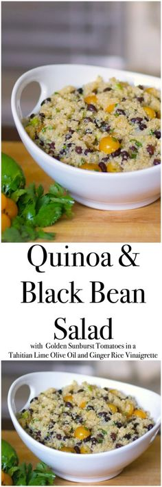 bean salad quinoa salad with black beans and golden sunburst tomatoes ...